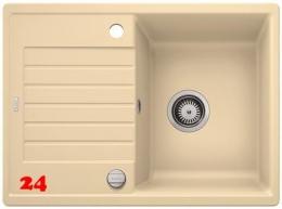 BLANCO Küchenspüle Zia 45 S Compact Silgranit® PuraDur®II Granitspüle / Einbauspüle mit Drehknopfventil in 9 Farben