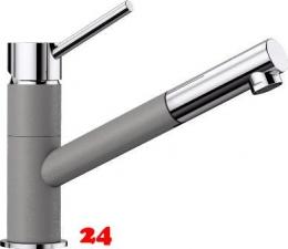 BLANCO Küchenarmatur Kano Silgranit®-Look Einhebelmischer mit Zugauslauf 120° schwenkbarer Auslauf in 9 Farben