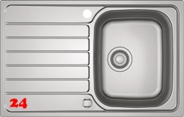FRANKE Küchenspüle Spark SKX 611-79 Einbauspüle Siebkorb als Drehknopfventil