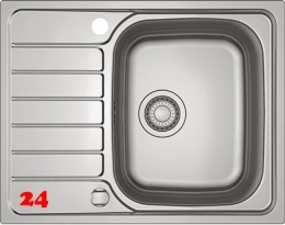 FRANKE Küchenspüle Spark SKX 611-63 Einbauspüle Siebkorb als Drehknopfventil