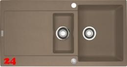 FRANKE Küchenspüle Maris MRG 651 Fragranit+ Einbauspüle / Granitspüle mit Druckknopfventil