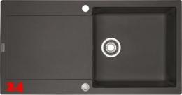 FRANKE Küchenspüle Maris MRG 611-100 Fragranit+ Einbauspüle / Granitspüle mit Druckknopfventil