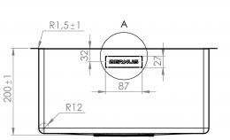{Lager} BERNUS VENIXX BA40 Einbauspüle 3 in 1 mit Flachrand Siebkorb als Stopfenventil