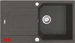 FRANKE Urban UBG 611-86 Fragranit+ Einbauspüle / Granitspüle mit Drehknopfventil