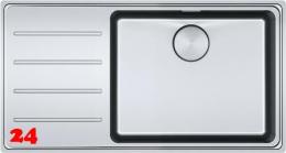 FRAMES BY FRANKE Küchenspüle FSX 211 Einbauspüle Slimtop / Flächenbündig mit Druckknopfventil