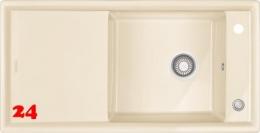 FRANKE Küchenspüle Ambion ABK 611-100-Keramik Fraceram Einbauspüle / Keramikspüle mit Druckknopfventil