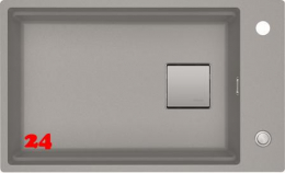 FRANKE Küchenspüle Kubus 2 KNG 110-62-UB Fragranit+ Granitspüle / Unterbauspüle mit Druckknopfventil