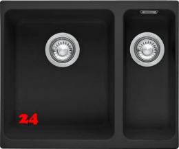 FRANKE Küchenspüle Kubus KBG 160-UB Fragranit+ Granitspüle / Unterbauspüle Siebkorb als Stopfenventil