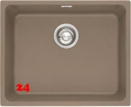 FRANKE Küchenspüle Kubus KBG 110-50-UB Fragranit+ Granitspüle / Unterbauspüle Siebkorb als Stopfenventil