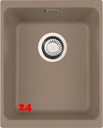FRANKE Küchenspüle Kubus KBG 110-34-UB Fragranit+ Granitspüle / Unterbauspüle Siebkorb als Stopfenventil