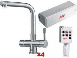 FRANKE Küchenarmatur Mondial 4 in 1 Combi S Heißwasser- und Filter-Armatur Festauslauf Edelstahl