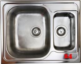 {Lager} BERNUS Canos 1 1/2B Compact Edelstahlspüle / Küchenspüle Siebkorb als Stopfenventil