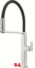 FRANKE Küchenarmatur Centinox Semi Pro Einhebelmischer Edelstahl mit Pendelbrause umstellbar 360° schwenkbarer Auslauf