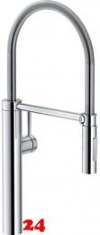 FRANKE Küchenarmatur Pescara Semi Pro XL Einhebelmischer Chrom mit Zugauslauf und Brausefunktion