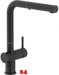 FRANKE Küchenarmatur Active Plus Einhebelmischer Black matt mit Zugauslauf als Schlauchbrause