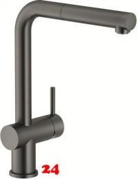 FRANKE Küchenarmatur Active Plus Einhebelmischer Gun Metal mit Zugauslauf als Schlauchbrause