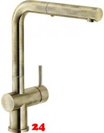 FRANKE Küchenarmatur Active Plus Einhebelmischer Bronze mit Zugauslauf als Schlauchbrause