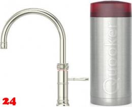 QUOOKER CLASSIC FUSION Round Combi Einhebelmischer & 100°C Armatur Nostalgieoptik (22CFRNIC)