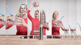 QUOOKER CLASSIC FUSION Round PRO3 mit CUBE *Der Wasserhahn, der alles kann! (3CFRRVSCUBE)