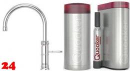 QUOOKER CLASSIC FUSION Round COMBI mit CUBE *Der Wasserhahn, der alles kann! (22CFRCHRCUBE)