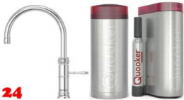 QUOOKER CLASSIC FUSION Round COMBI(+) mit CUBE *Der Wasserhahn, der alles kann! (22+CFRCHRCUBE)