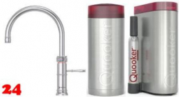 QUOOKER CLASSIC FUSION Round COMBI(+) mit CUBE *Der Wasserhahn der alles kann! (22+CFRRVSCUBE)