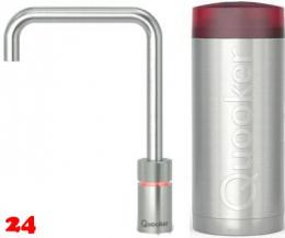 QUOOKER Nordic Square Combi 100°C Armatur Solohahn Edelstahl als Kochendwasser Armatur (22NSRVS)