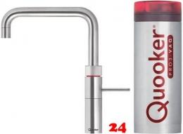 QUOOKER FUSION Square VAQ PRO3 Einhebelmischer Edelstahl & 100°C Armatur Kochendwasserhahn (3FSRVS)