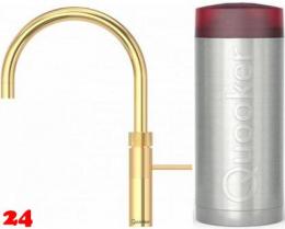 QUOOKER FUSION Round Combi Einhebelmischer 24 Karat Gold Edition & 100°C Armatur (22FRGLD)