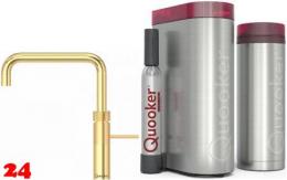 QUOOKER FUSION Square Gold Edition VAQ PRO3 mit CUBE *Der Wasserhahn der alles kann! (3FSGLDCUBE)
