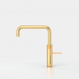QUOOKER FUSION Square Gold Edition VAQ PRO3 mit CUBE *Der Wasserhahn, der alles kann! (3FSGLDCUBE)