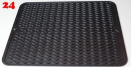 BERNUS Silikon Geschirr-Abtropfmatte schwarz spülmaschinenfest, hitzebeständig