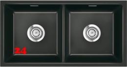 Systemceram KeraDomo MERA TWIN U BASIC Keramik Unterbauspüle in 7 Standardfarben für die Küche