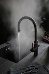 QUOOKER FLEX Zugauslauf Schwarz VAQ PRO3 mit CUBE *Der Wasserhahn, der alles kann! (3XBLKCUBE)