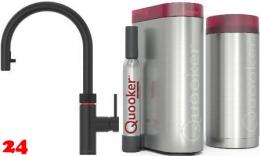 QUOOKER FLEX Zugauslauf Schwarz Combi(+) mit CUBE *Der Wasserhahn der alles kann! (22+XBLKCUBE)