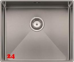 REGINOX Florida 45x40-FL Einbauspüle Edelstahl 3 in 1 mit Flachrand Siebkorb als Stopfenventil