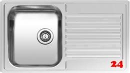 REGINOX Küchenspüle Centurio 10 (L) Einbauspüle Edelstahl mit Flachrand Siebkorb als Stopfenventil