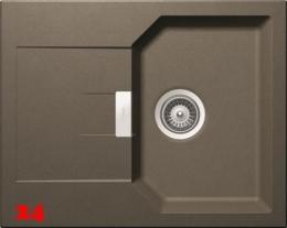 SCHOCK Küchenspüle Manhattan D-100XS Cristalite® Golden Line Granitspüle / Einbauspüle in 4 Farben mit Drehexcenter