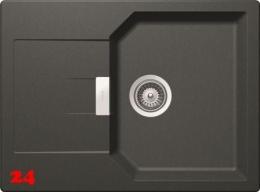 SCHOCK Küchenspüle Manhattan D-100S Cristalite® Golden Line Granitspüle / Einbauspüle in 4 Farben mit Drehexcenter