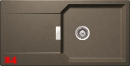 SCHOCK Küchenspüle Manhattan D-100L Cristalite® Golden Line Granitspüle / Einbauspüle in 4 Farben mit Drehexcenter