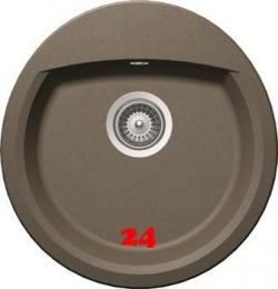 SCHOCK Manhattan R-100 Cristalite® Golden Line Granitspüle / Rundbecken mit Drehexcenter