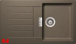 SCHOCK Küchenspüle Primus D-100 Cristalite® Golden Line Granitspüle / Einbauspüle in 4 Farben mit Drehexcenter