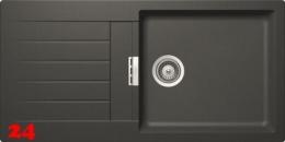 SCHOCK Küchenspüle Primus D-100L Cristalite® Golden Line Granitspüle / Einbauspüle in 4 Farben mit Drehexcenter