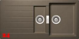 SCHOCK Küchenspüle Primus D-150 Cristalite® Golden Line Granitspüle / Einbauspüle in 4 Farben mit Drehexcenter