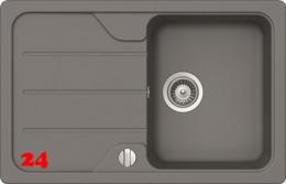 {Lager} SCHOCK Formhaus D-100S Cristalite® Granitspüle in der Farbe Croma mit Drehexcenter