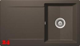 SCHOCK Küchenspüle Epure D-100 Cristalite® Golden Line Granitspüle / Einbauspüle in 4 Farben mit Drehexcenter