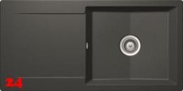 SCHOCK Küchenspüle Epure D-100L Cristalite® Golden Line Granitspüle / Einbauspüle in 4 Farben mit Drehexcenter