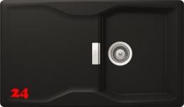 SCHOCK Küchenspüle Kyoto D-100 Cristadur® Nano-Granitspüle / Einbauspüle in 8 Farben mit Drehexcenter