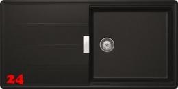 SCHOCK Küchenspüle Tia D-100L Cristadur® Nano-Granitspüle / Einbauspüle in 8 Farben mit Drehexcenter