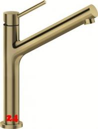 SCHOCK Küchenarmatur Dion White Gold Einhebelmischer Oberfläche: Goldfarben mit Festauslauf